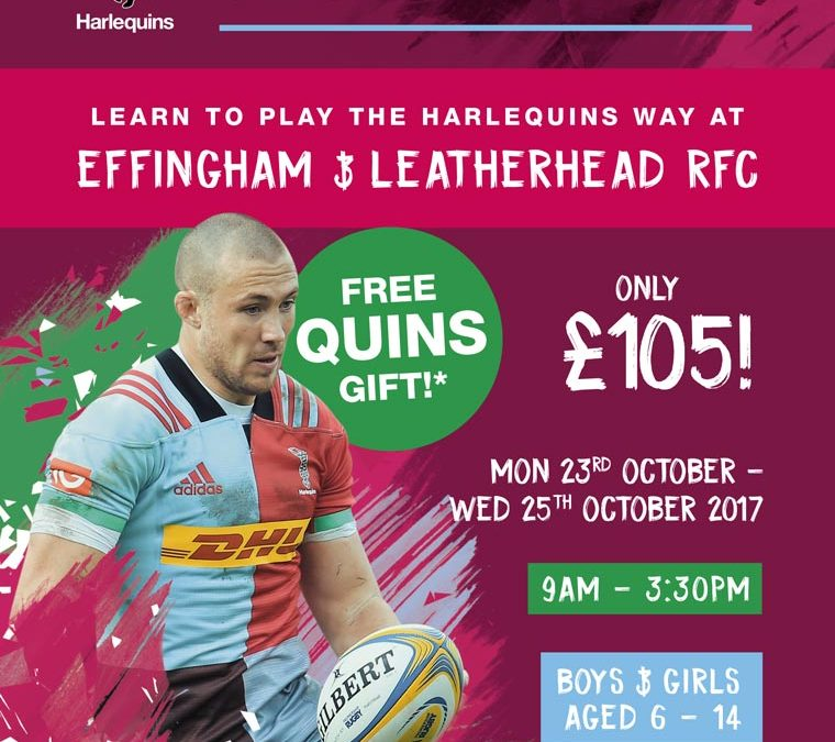 Harlequins Training Course at ELRFC 23-25 October